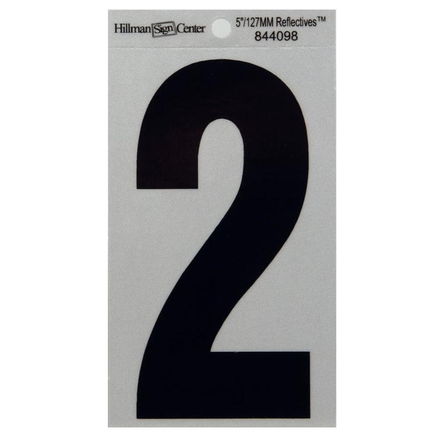 Hillman 5-in Reflective Black House Number 2