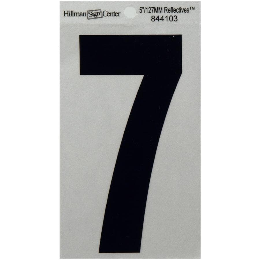 Hillman 5-in Reflective Black House Number 7