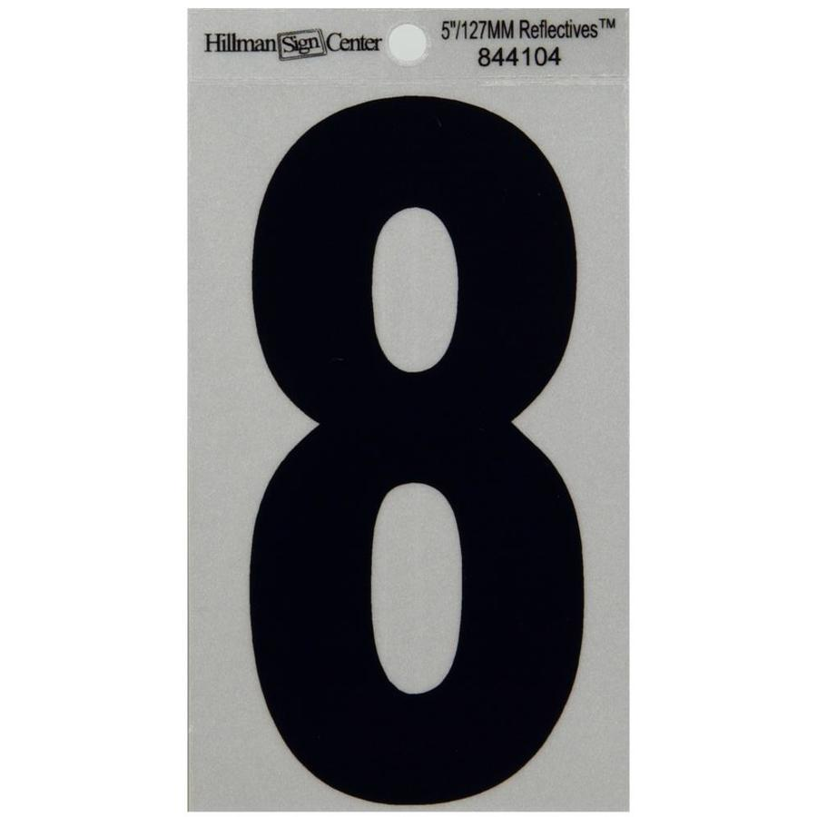 Hillman 5-in Reflective Black House Number 8