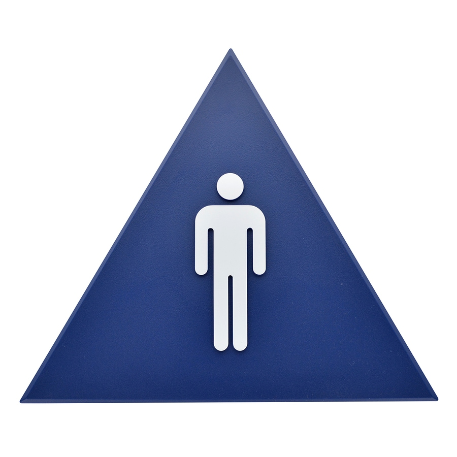 Bathroom Signs Lowes shop hillman sign center 10-in x 13.563-in a.d.a. men sign at