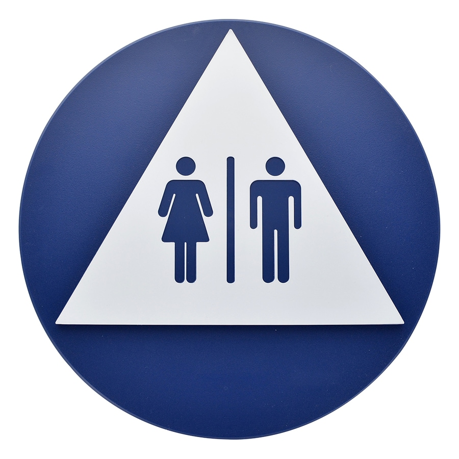 Bathroom Signs Lowes shop hillman sign center 13.563-in x 13.563-in a.d.a. restroom