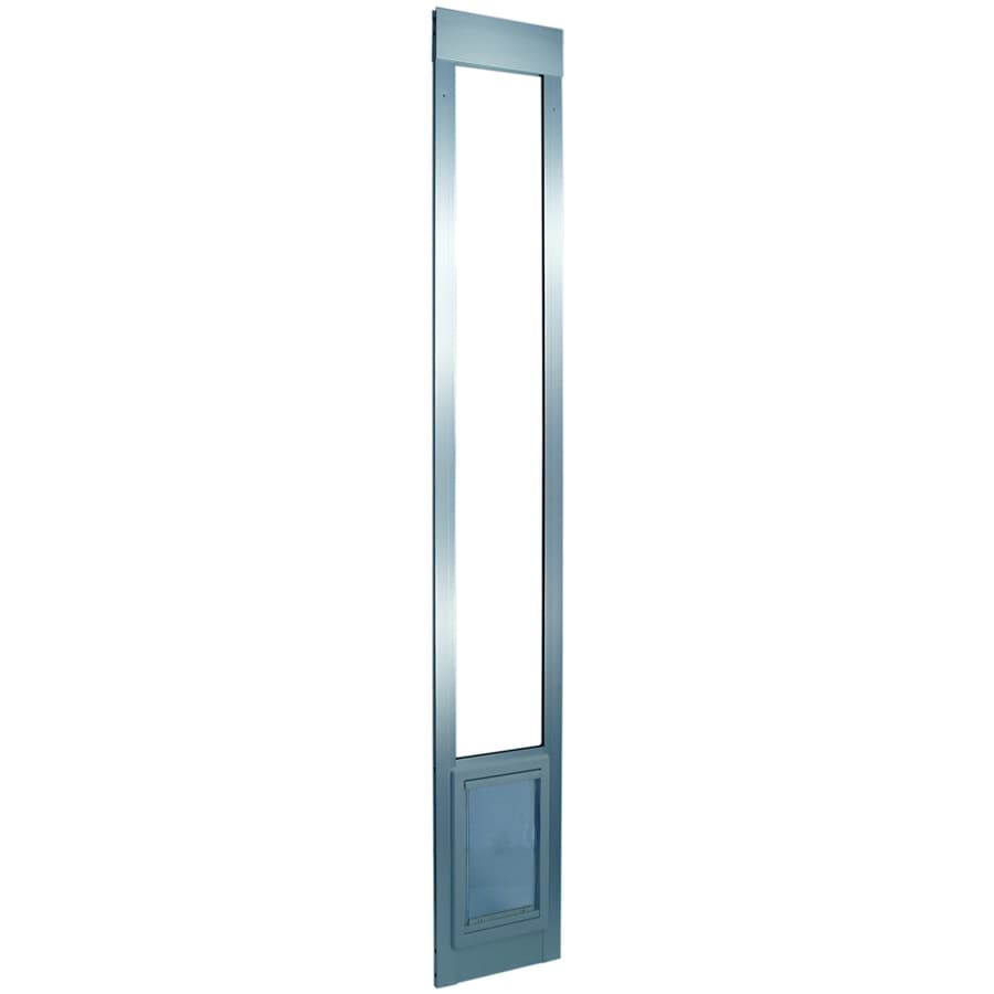 Small Silver Aluminum Sliding Pet Door (Actual: 7-in x 5-in)