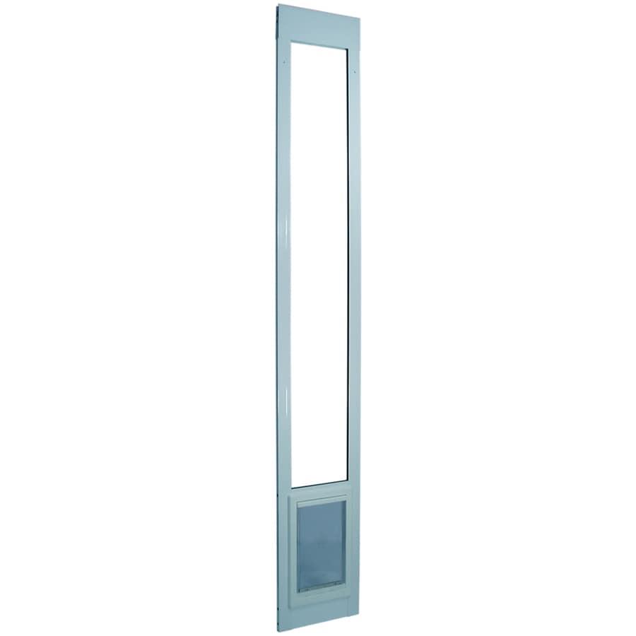 Aluminum Pet Patio Small White Aluminum Sliding Door Pet Door (Actual: 7-in x 5-in)