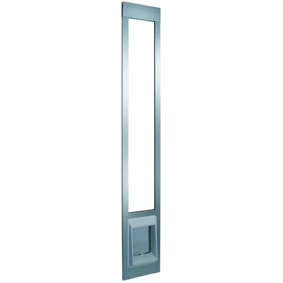 Small Silver Aluminum Sliding Pet Door (Actual: 6.25-in x 6.25-in)