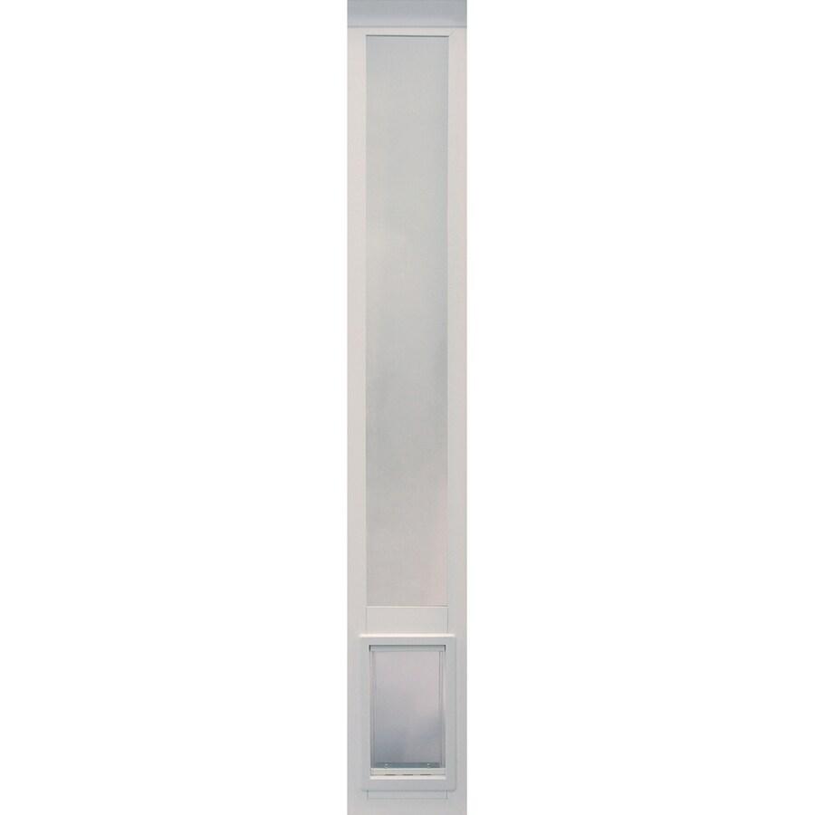 ideal pet products vinyl pet patio medium white vinyl sliding pet door in the pet doors department at lowes com