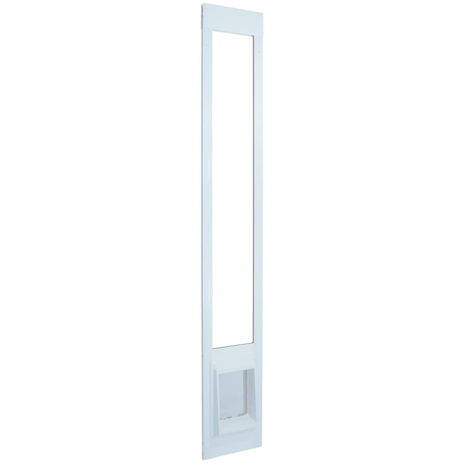 Medium White Aluminum Sliding Pet Door (Actual: 10.5-in x 7.5-in)