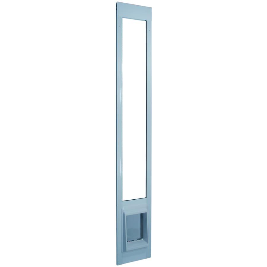 ChubbyKat Large White Aluminum Sliding Pet Door (Actual: 10.5-in x 7.5-in)