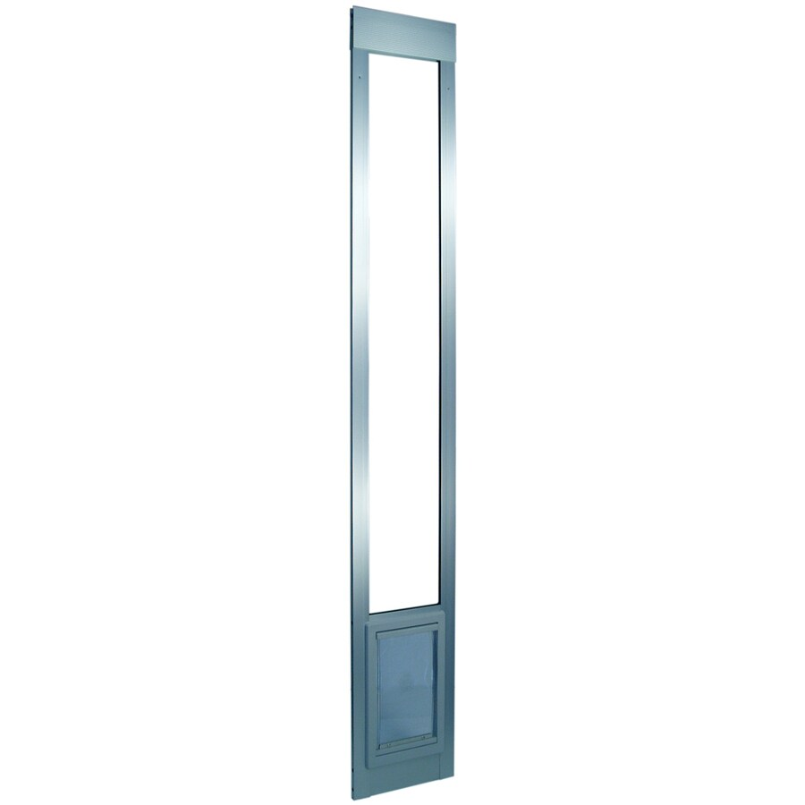 X-Large Silver Aluminum Sliding Pet Door (Actual: 20-in x 15-in)