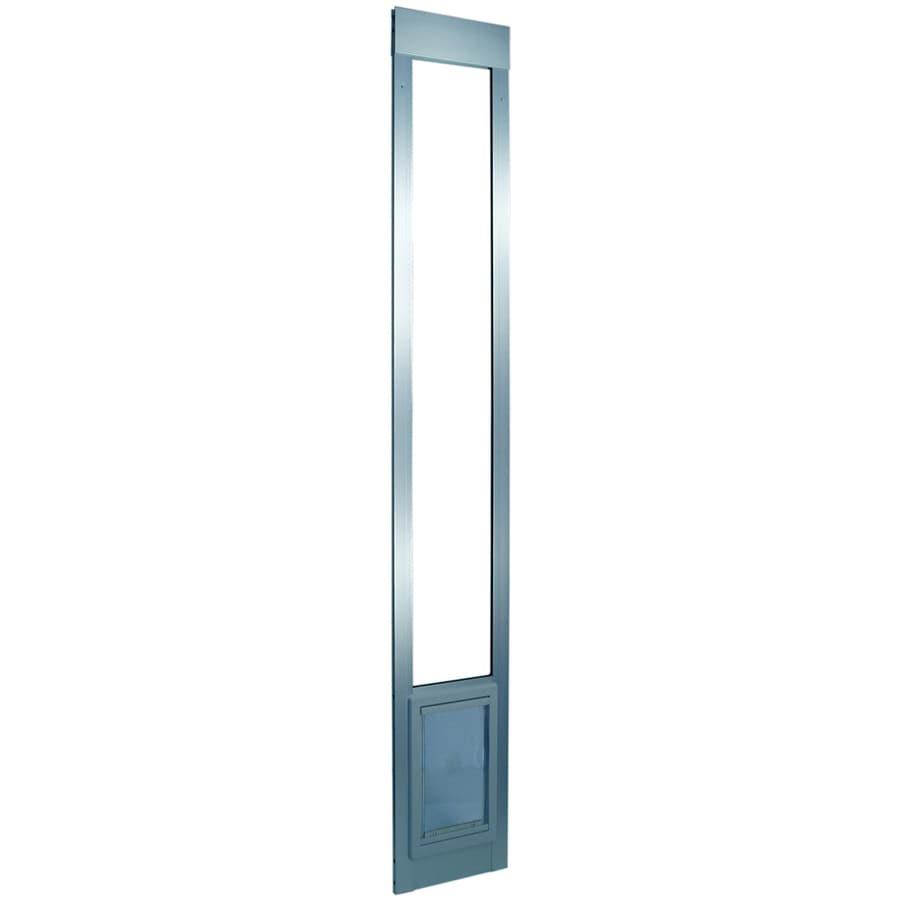 Aluminum Pet Patio Small Silver Aluminum Sliding Door Pet Door (Actual: 7-in x 5-in)