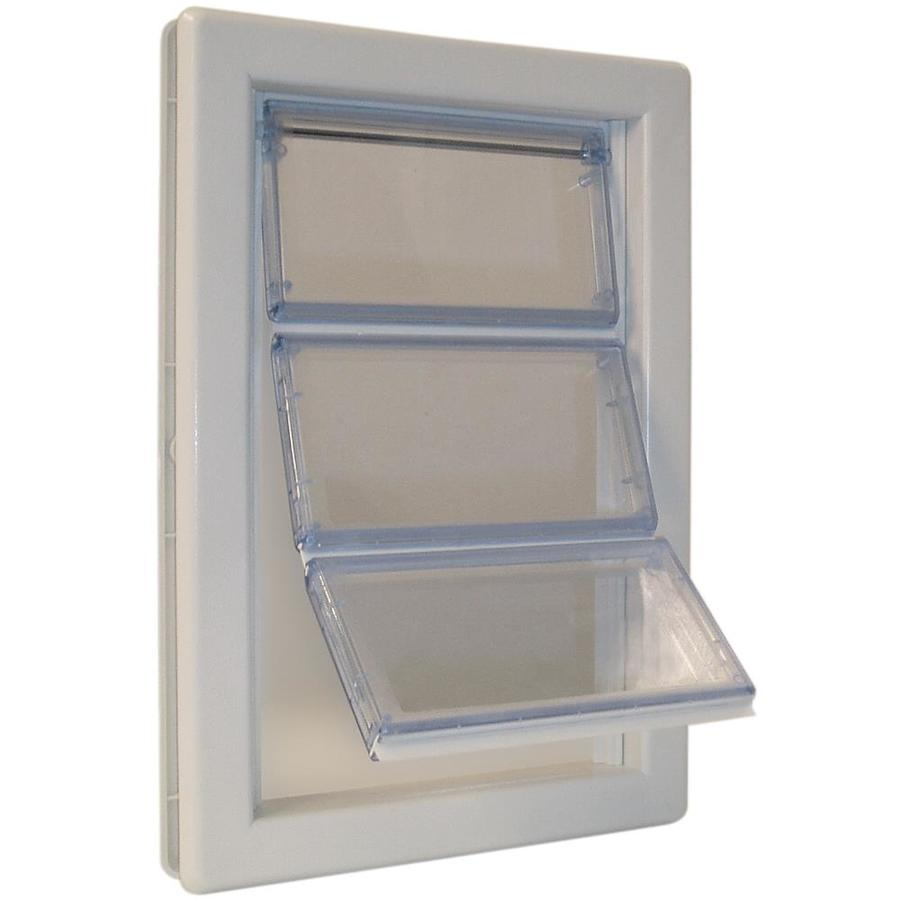 Ideal Pet Products Air Seal X-Large White Plastic Door Pet Door (Actual: 15.75-in x 10.25-in)