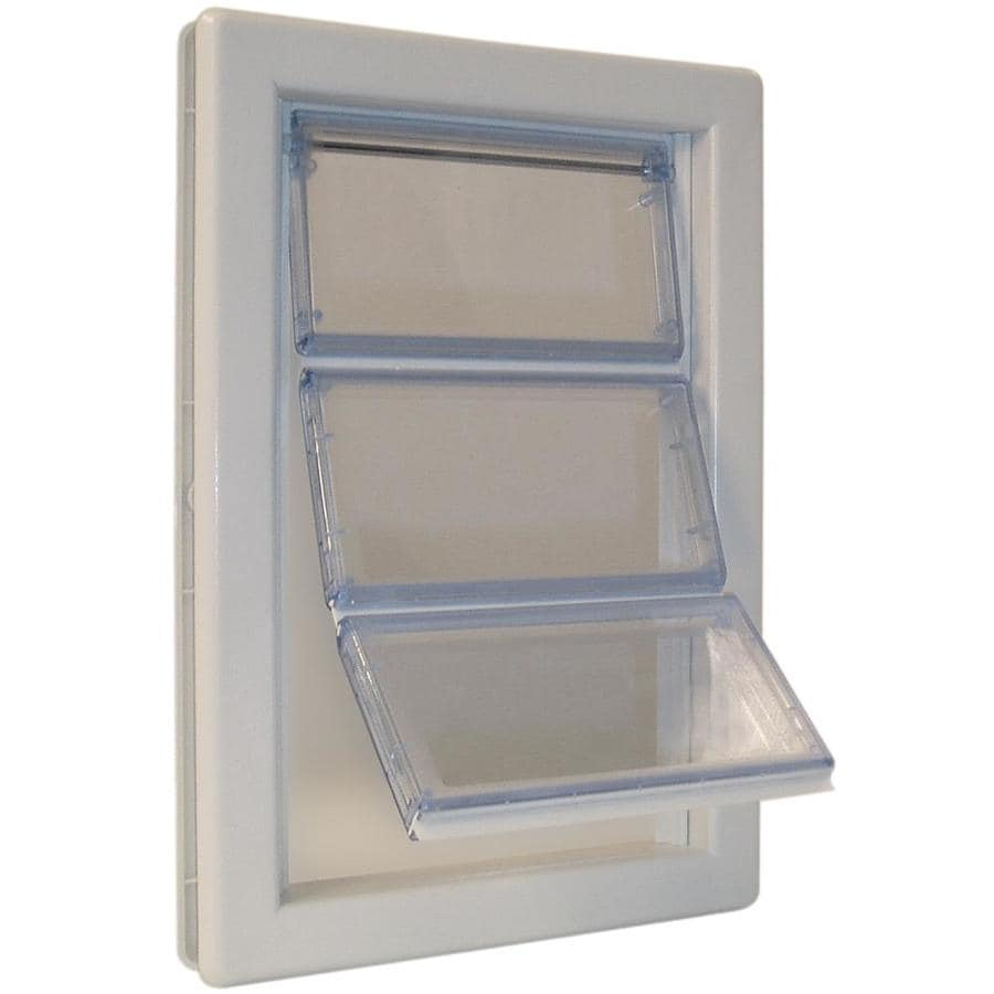Ideal Pet Products AirSeal X-large White Plastic Pet Door (Actual: 15.75-in x 10.25-in)