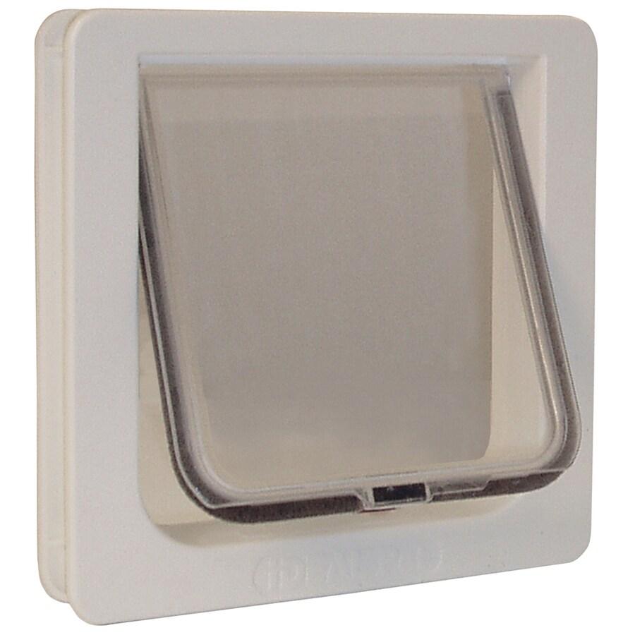 Ideal Pet Products Cat Flap Small White Plastic Door Pet Door (Actual: 6.25-in x 6.25-in)