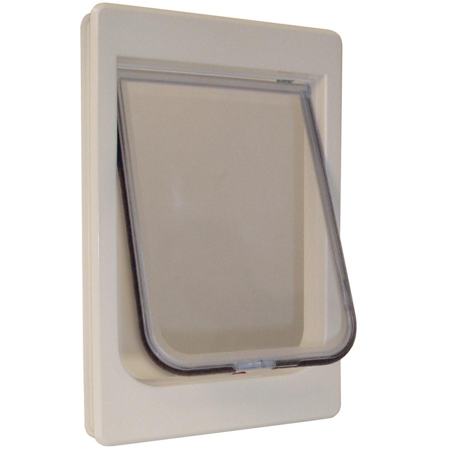 Ideal Pet Products Chubby Kat Large White Plastic Door Pet Door (Actual: 10.5-in x 7.5-in)