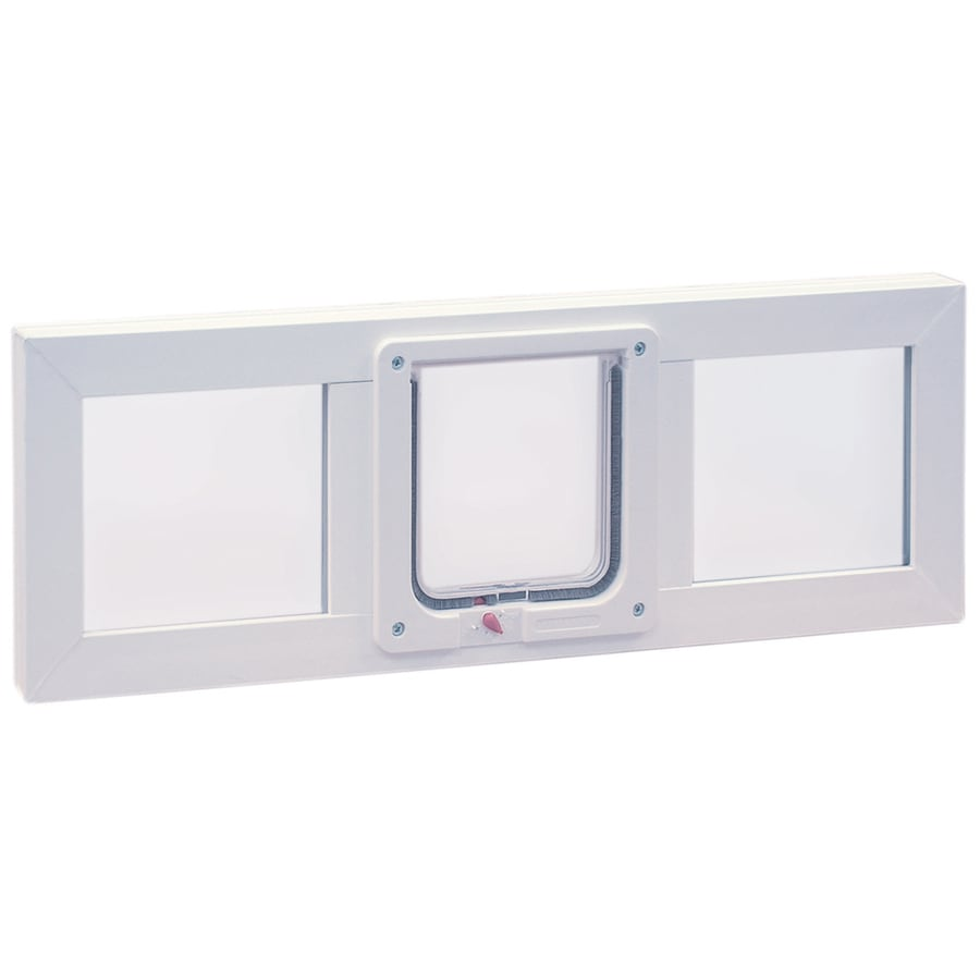 Ideal Pet Products Vinyl Sash Window Small White Pet Door