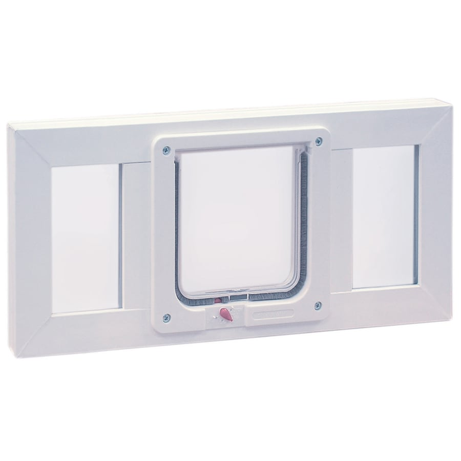 Shop ideal pet products vinyl sash window small white pet for Ideal dog door