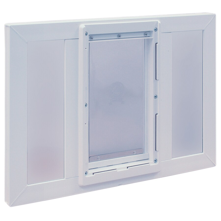 Shop ideal pet products vinyl sash window small white for Ideal windows and doors