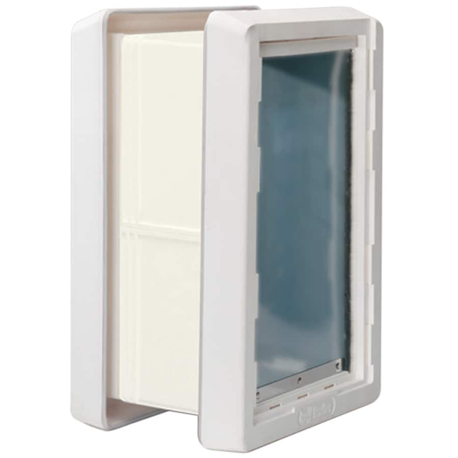 Ideal Pet Products Ruff Weather Wall Medium White Plastic Wall Pet Door (Actual: 13-in x 7.25-in)