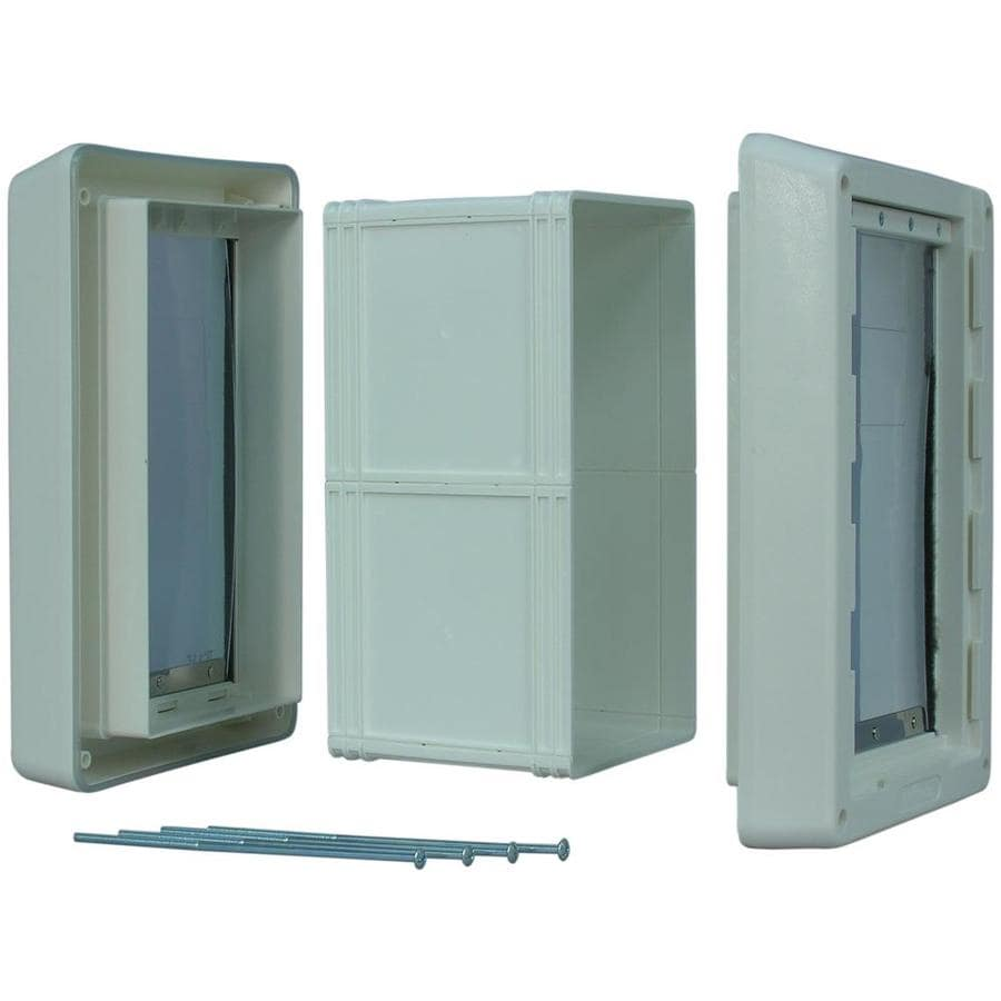 Ideal Pet Products Ruff Weather Wall XX-Large White Plastic Wall Pet Door (Actual: 23.5-in x 15-in)