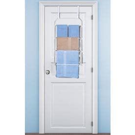 White Freestanding Towel Rack
