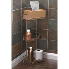 Oil Rubbed Bronze Metal 3 Tier Freestanding Bath Tower