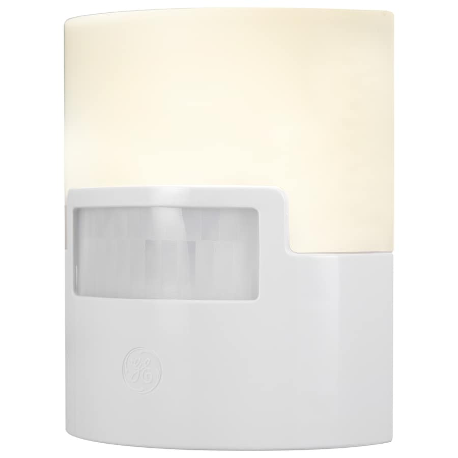GE White LED Night Light with Motion Sensor and Auto On/Off