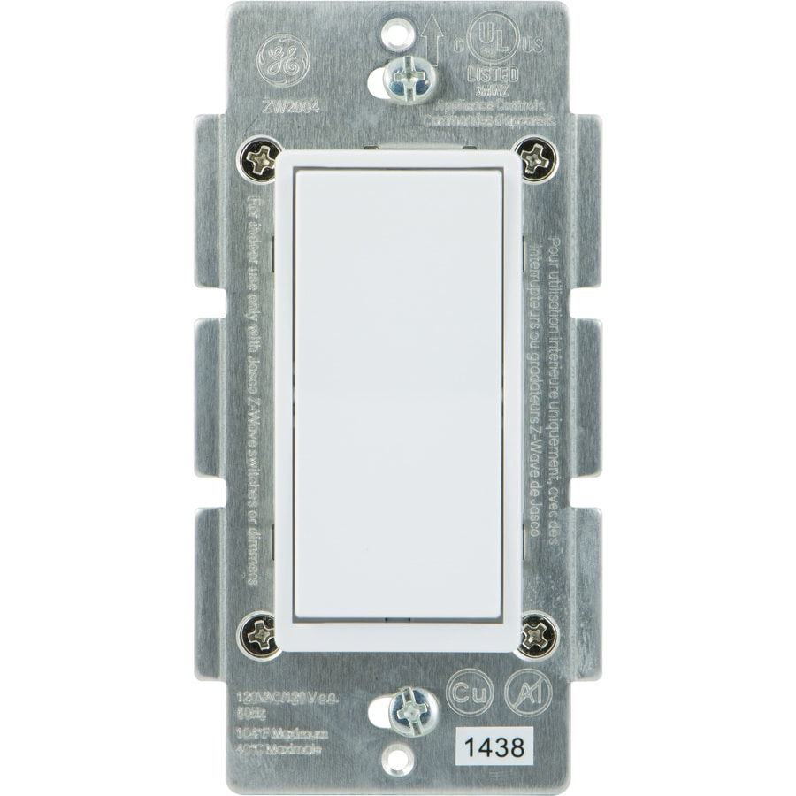 Shop Light Switches At Four Way Switch Wiring Diagram With Duplex Ge Z Wave Zigbee Bluetooth 0 Amp 3 White