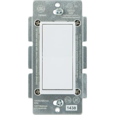 Z-Wave/Zigbee/Bluetooth 3-Way White/Almond Rocker Light Switch on