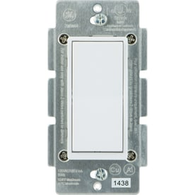 GE Z-Wave/Zigbee/Bluetooth 3-Way White/Almond Rocker Light Switch