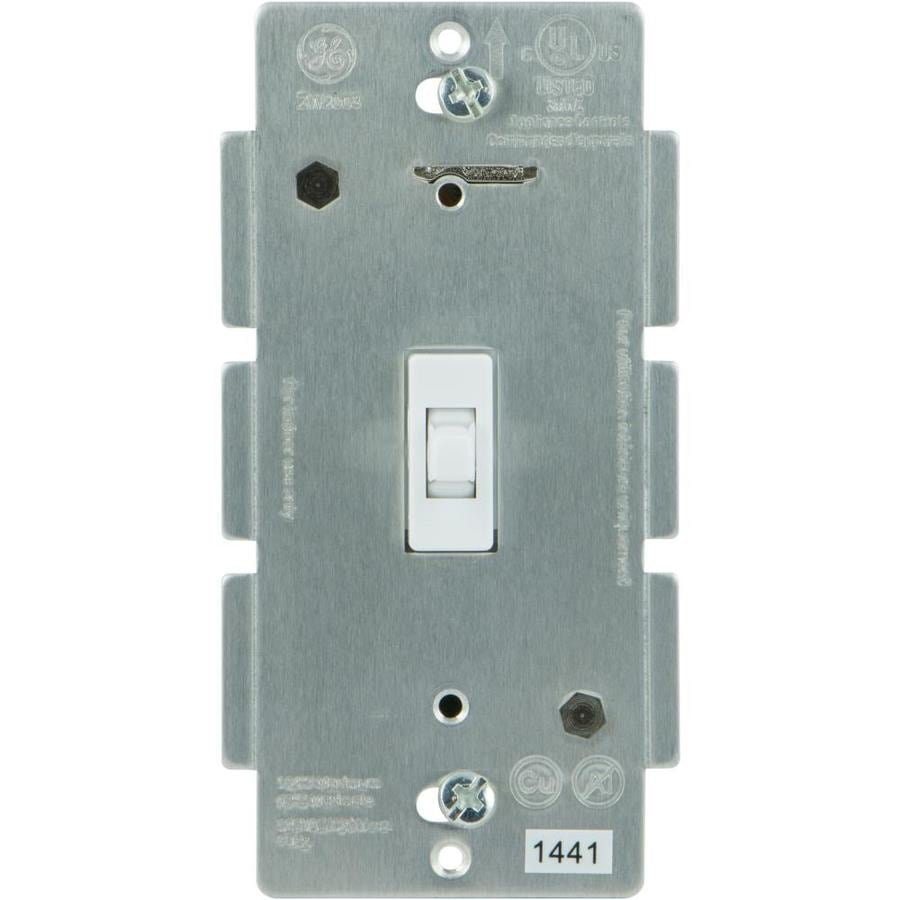 GE Z-Wave ZigBee Bluetooth 0-amp 3-way White Toggle Indoor Add-on Light Switch