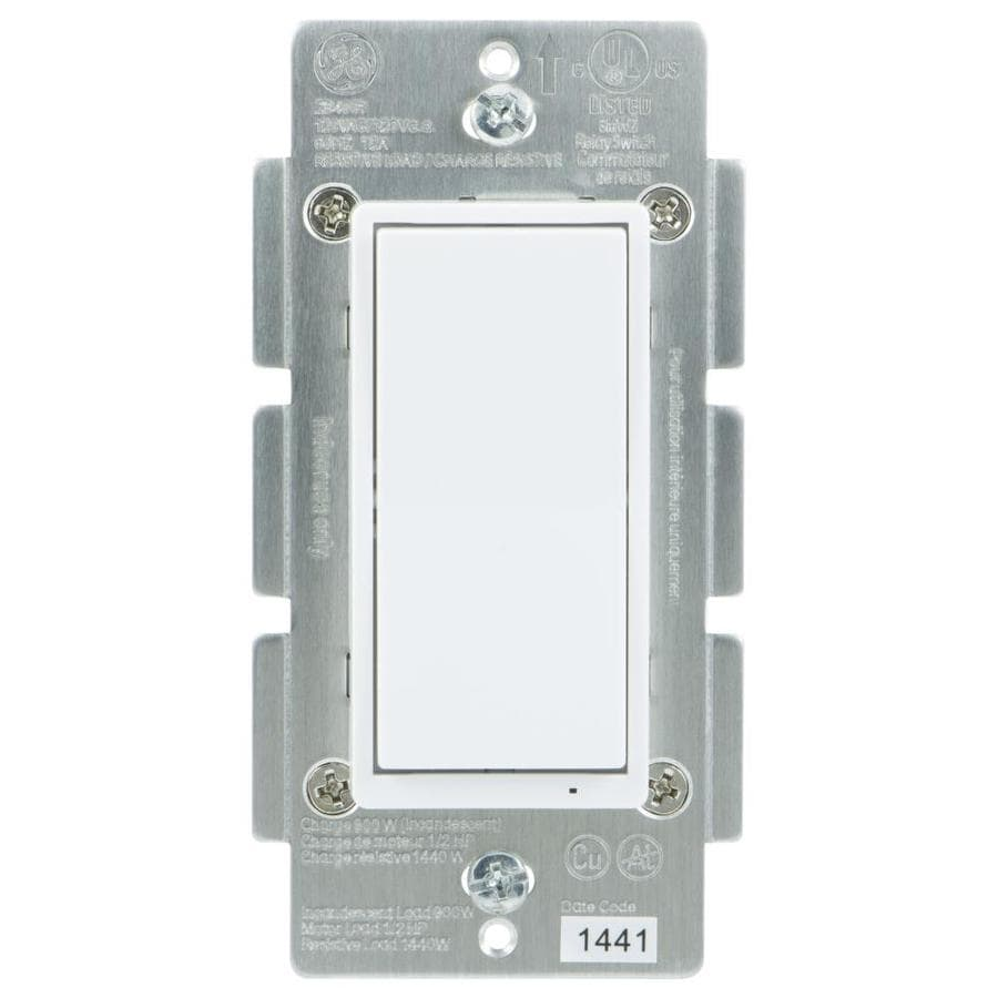 Shop Light Switches At Dial Dimmer Switch Wiring Diagram Ge Zigbee 15 20 Amp 3 Way 4 White Rocker