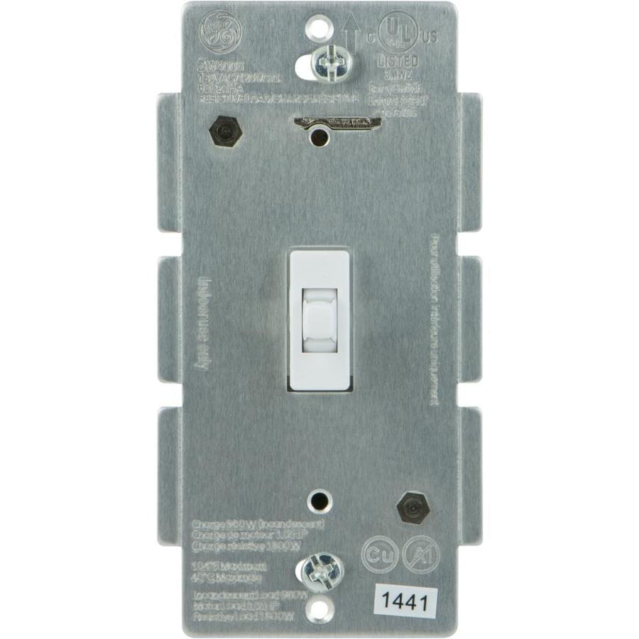 Ge Z Wave Plus 15 Amp 3 Way White Toggle Light Switch At