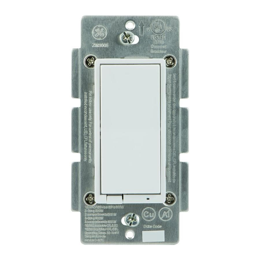 Shop Light Switches At Ledindicatorforremoteacloads Ge Z Wave Plus 15 Amp 3 Way White Almond Rocker