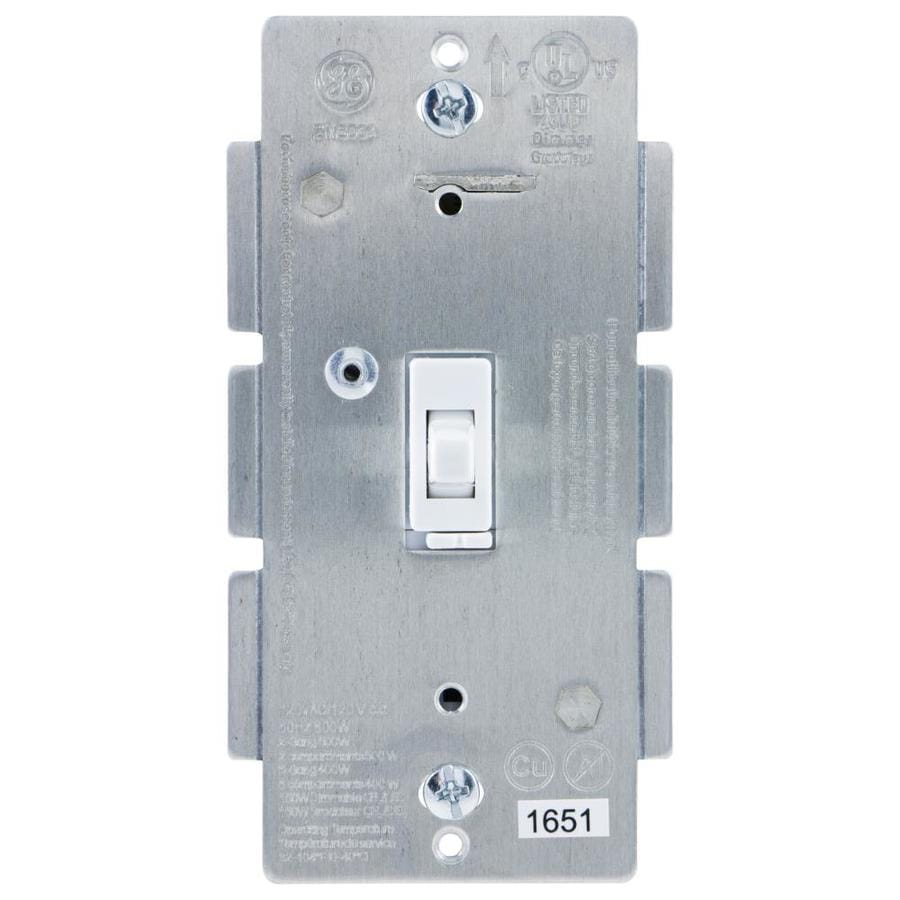 GE Z-Wave Plus 600-watt Single Pole 3-way Wireless White Toggle Indoor Dimmer