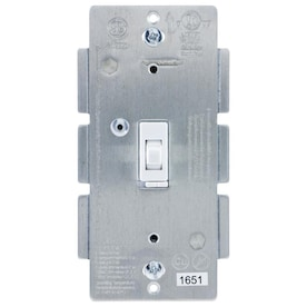 GE Z-Wave 1-Switch 100-watt Single pole White Indoor Framed toggle Dimmer