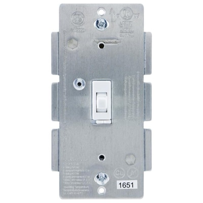 Z Wave 1 Switch 100 Watt Single Pole White Indoor Framed Toggle Dimmer