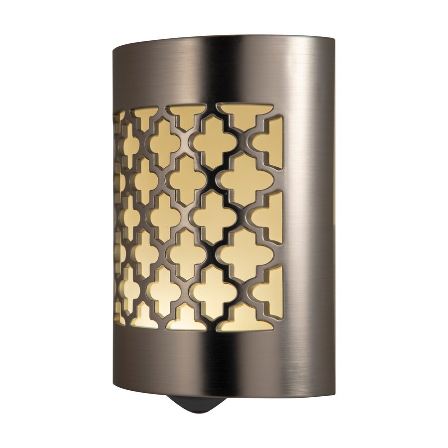 Ge Brushed Nickel Led Night Light With Auto On Off At