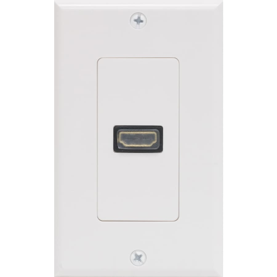 Shop Ge Plastic Hdmi Wall Jack At Lowes Com