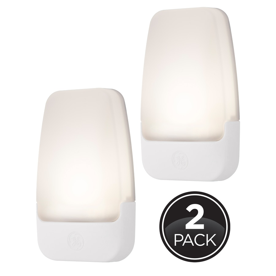GE 2-Pack White LED Night Light with Auto On/Off