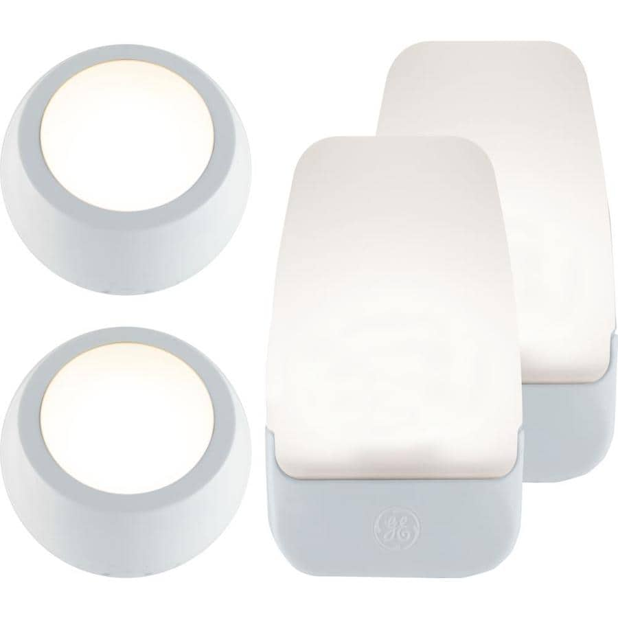 GE 4-Pack White LED Night Light with Auto On/Off