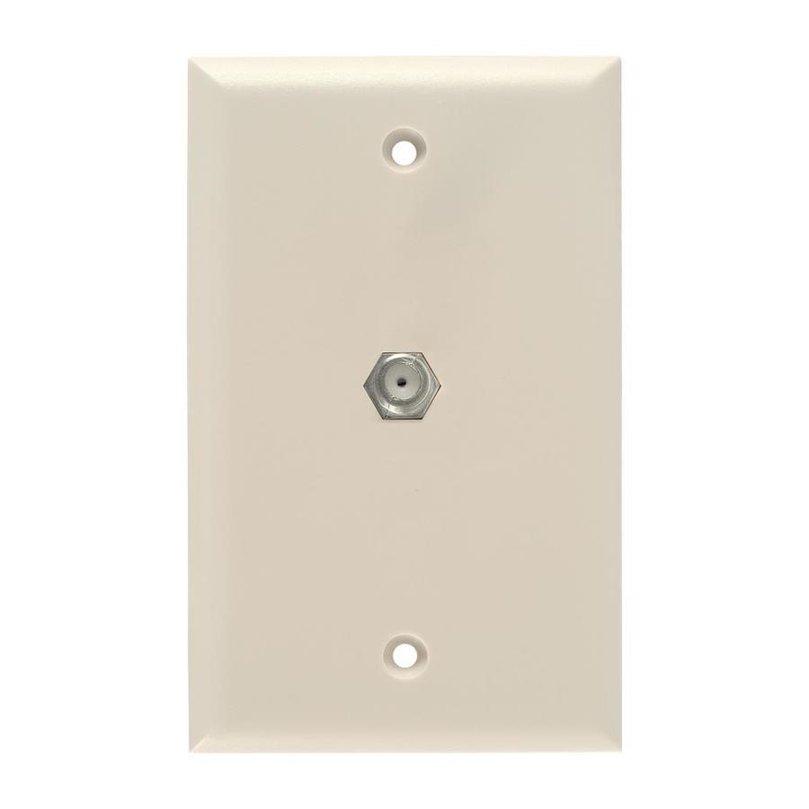 GE 1-Gang Almond Single Coaxial Wall Plate