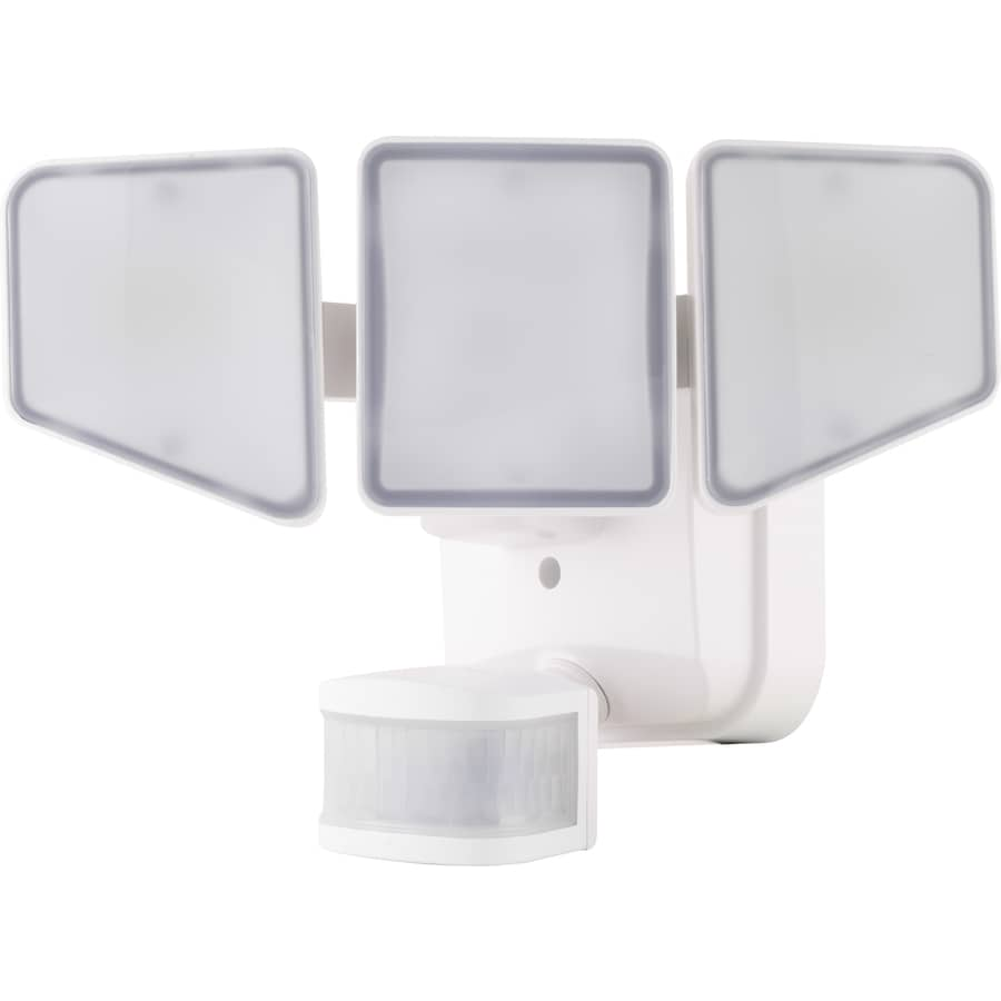 Ge 240 Degree 3 Head White Led Motion Activated Flood