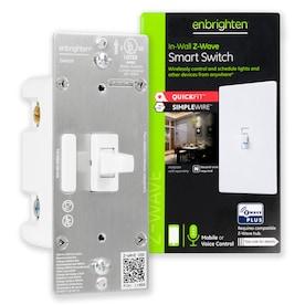 GE Enbrighten Z-Wave Plus 15-Amp Single-Pole/3-Way White Smart Illuminated Toggle Light Switch