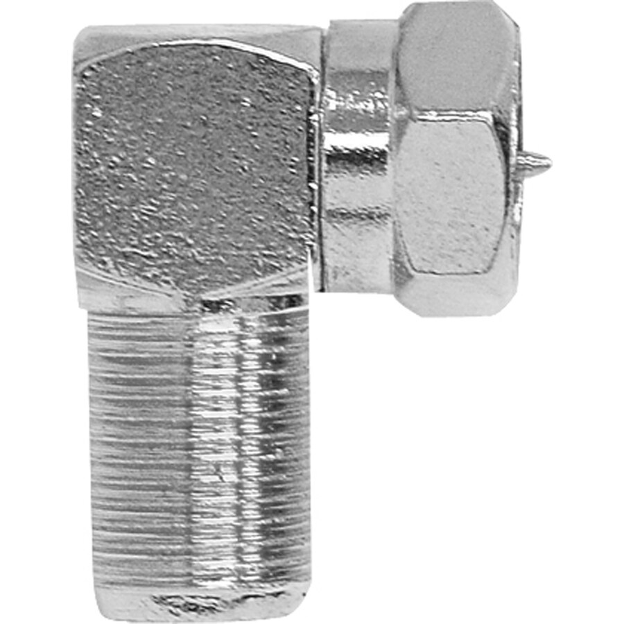 GE Nickel Right Angle Screw-On F-Connector