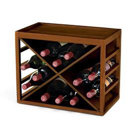 Wine Enthusiast Professional 12 Bottle Walnut Wine Chiller