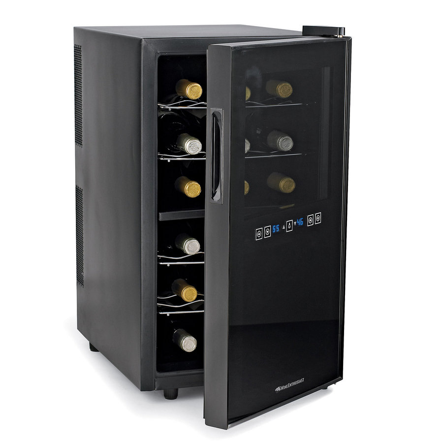 Wine Enthusiast 18 Bottle Capacity Black Dual Zone Cooling