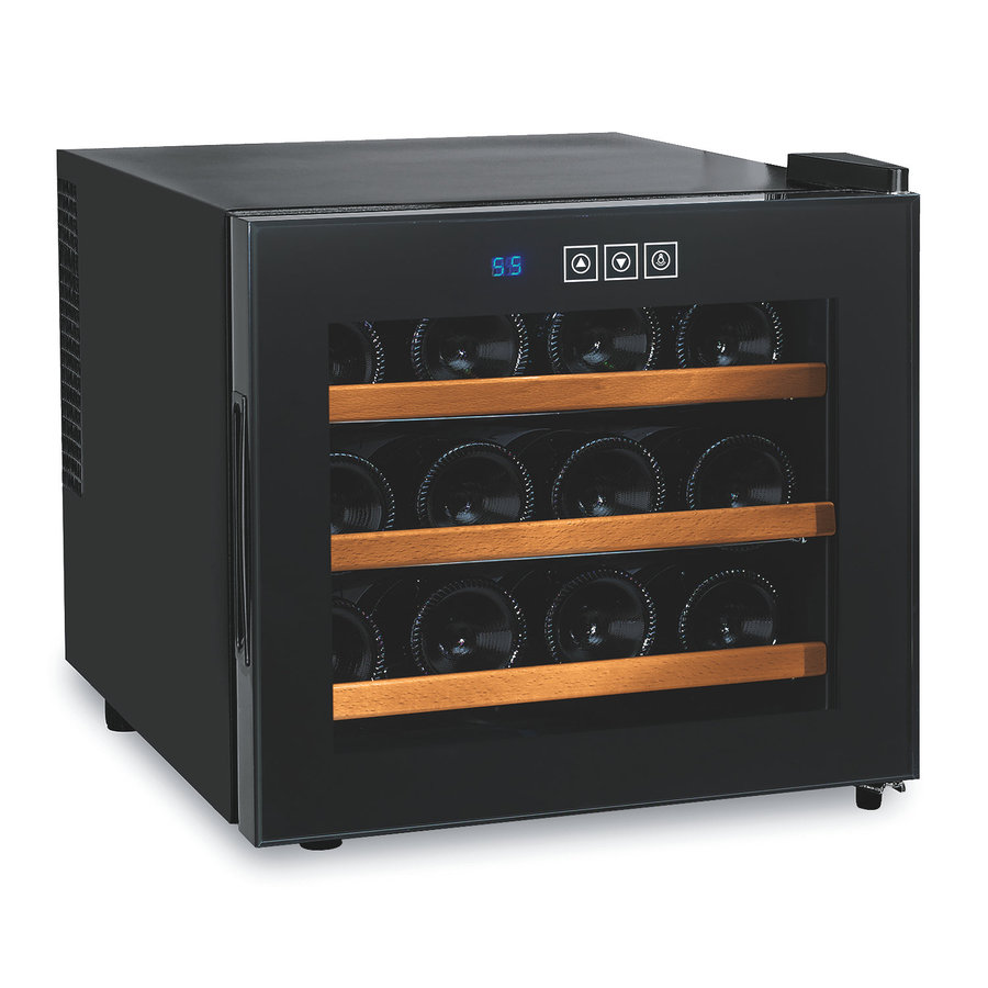 Wine Enthusiast 12-Bottle Black Wine Chiller