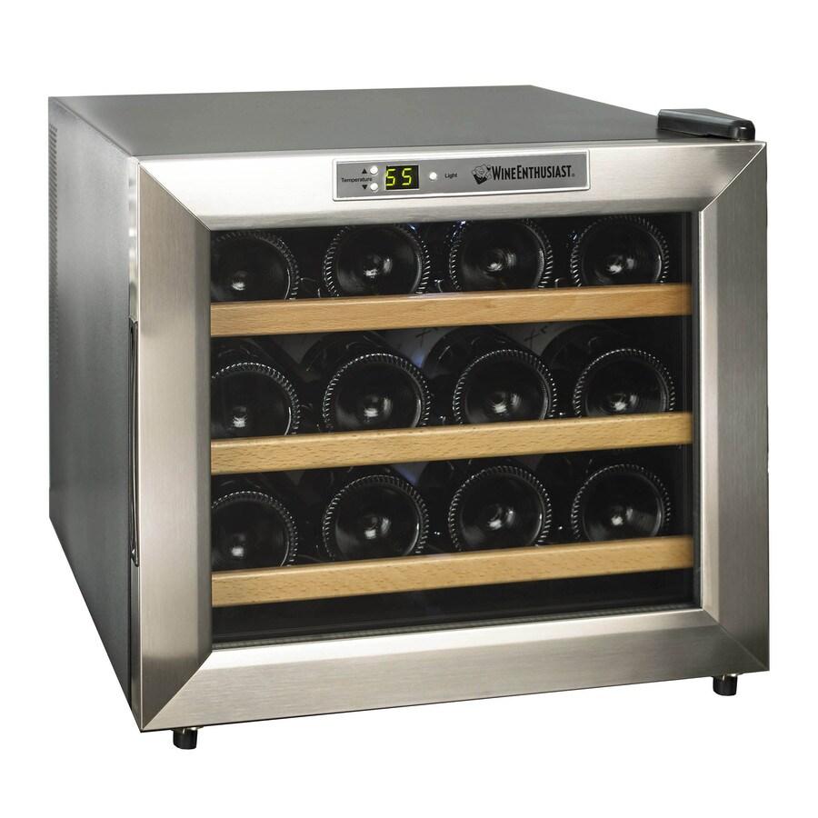 Wine Enthusiast 12-Bottle Stainless Steel Wine Chiller