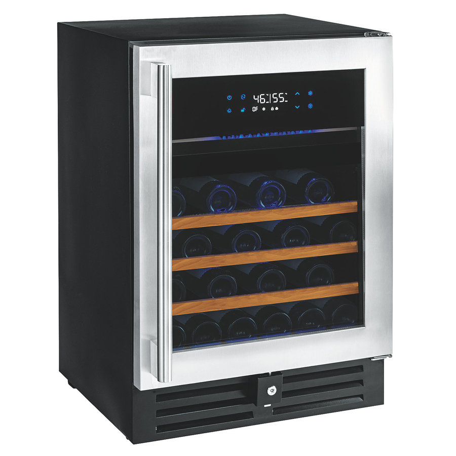 Wine Enthusiast 46-Bottle Stainless Steel Dual Zone Wine Chiller