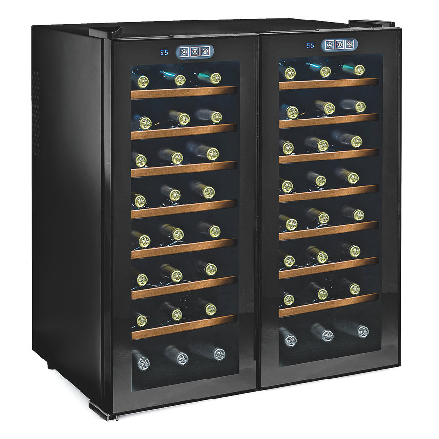 Wine Enthusiast 48-Bottle Glass Dual Zone Wine Chiller