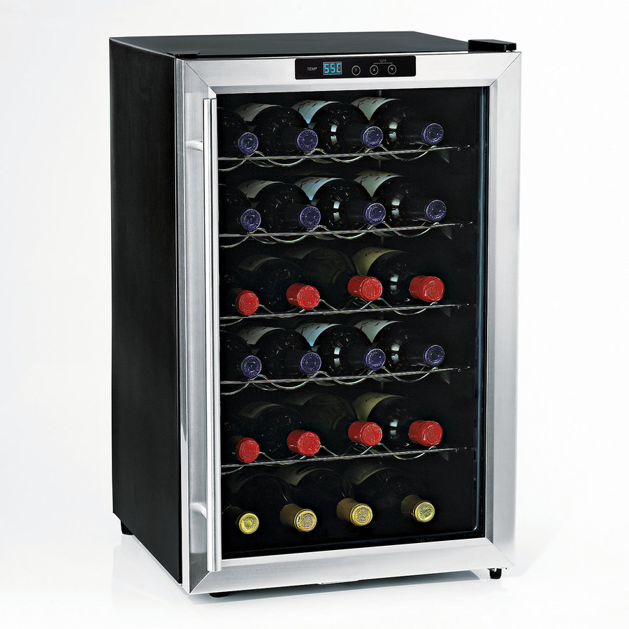 Wine Enthusiast 28-Bottle Stainless Steel Wine Chiller